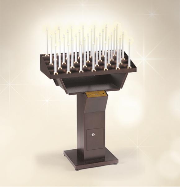 Candeliere votivo elettronico 48 accensioni per chiesa for Arredi sacri milano