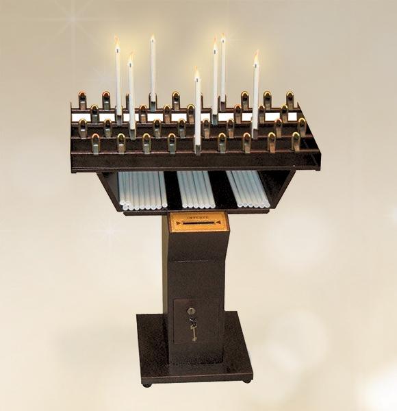 Candeliere votivo elettronico 21 accensioni per chiesa for Arredi sacri milano