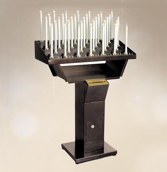 Candeliere elettrico gestuale 48 accensioni per chiesa for Arredi sacri milano