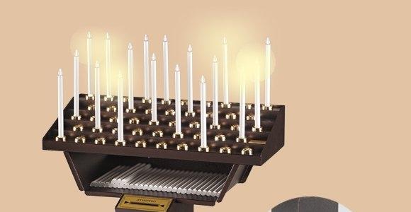 Votivo Arredi Sacri: Candeliere gestuale per Chiese